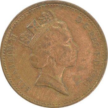 سکه 1 پنی 1985 الیزابت دوم - VF35 - انگلستان