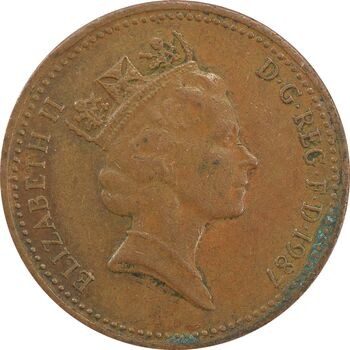 سکه 1 پنی 1987 الیزابت دوم - EF40 - انگلستان