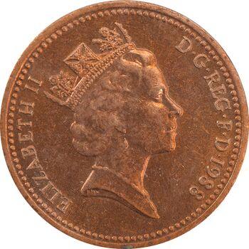 سکه 1 پنی 1988 الیزابت دوم - AU58 - انگلستان