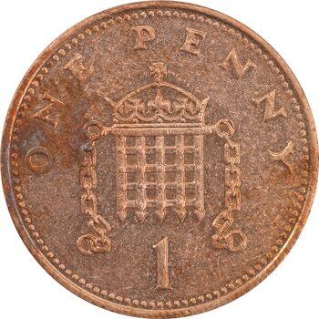 سکه 1 پنی 1988 الیزابت دوم - AU55 - انگلستان
