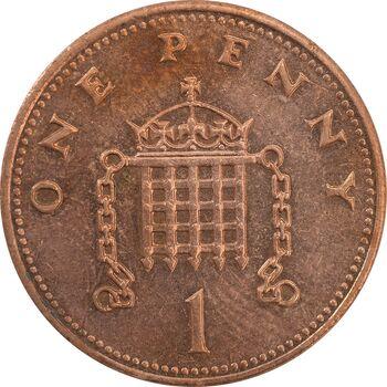 سکه 1 پنی 1989 الیزابت دوم - AU50 - انگلستان