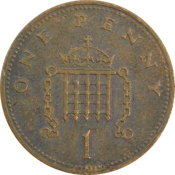 سکه 1 پنی 1989 الیزابت دوم - EF40 - انگلستان