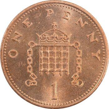 سکه 1 پنی 1991 الیزابت دوم - MS62 - انگلستان