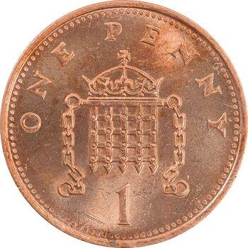سکه 1 پنی 1992 الیزابت دوم - MS64 - انگلستان