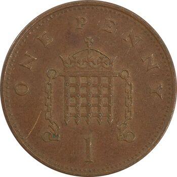 سکه 1 پنی 1992 الیزابت دوم - EF45 - انگلستان