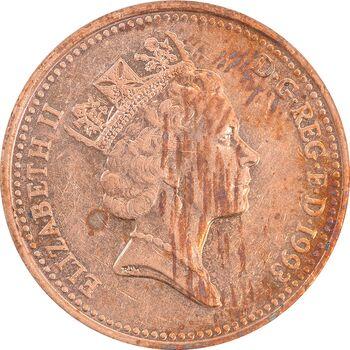 سکه 1 پنی 1993 الیزابت دوم - AU58 - انگلستان