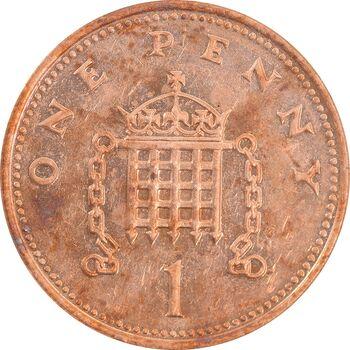 سکه 1 پنی 1993 الیزابت دوم - AU55 - انگلستان