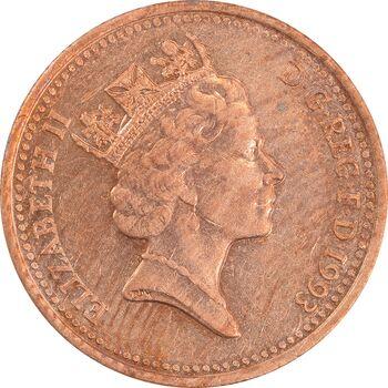 سکه 1 پنی 1993 الیزابت دوم - AU50 - انگلستان
