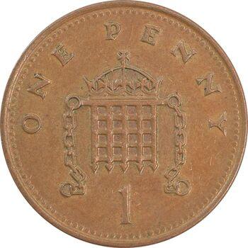 سکه 1 پنی 1993 الیزابت دوم - EF45 - انگلستان