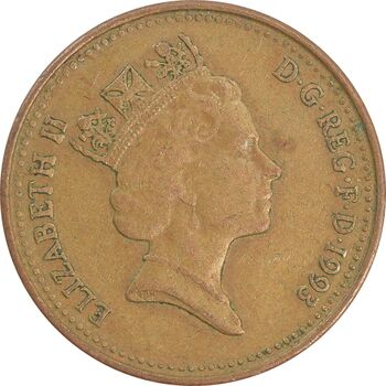 سکه 1 پنی 1993 الیزابت دوم - EF40 - انگلستان