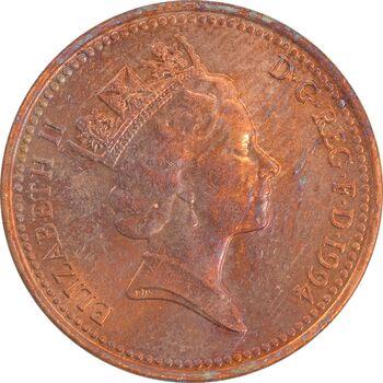 سکه 1 پنی 1994 الیزابت دوم - MS60 - انگلستان