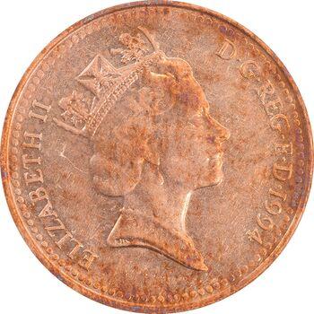 سکه 1 پنی 1994 الیزابت دوم - AU55 - انگلستان
