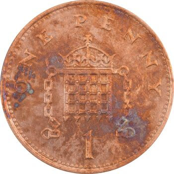 سکه 1 پنی 1994 الیزابت دوم - AU50 - انگلستان