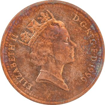سکه 1 پنی 1996 الیزابت دوم - AU55 - انگلستان