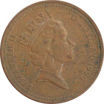 سکه 1 پنی 1996 الیزابت دوم - EF40 - انگلستان