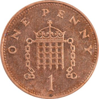 سکه 1 پنی 1997 الیزابت دوم - MS62 - انگلستان