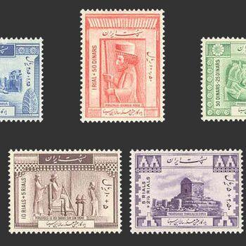 تمبر هزارمین سال تولد حکیم ابو علی سینا (سری یکم) 1326 - محمد رضا شاه