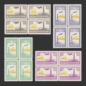 تمبر چاه شماره ۳ البرز در قم (سری هوایی) 1332 - محمدرضا شاه