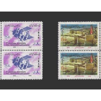 تمبر روز جهانی ارتباطات 1354 - محمدرضا شاه