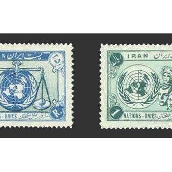تمبر روز ملل متحد (4) 1335 - محمدرضا شاه
