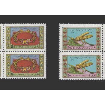 تمبر سالگرد ازدواج شاه و فرح دیبا 1353 - محمدرضا شاه