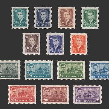 تمبر سری یازدهم پستی 1341 - محمد رضا شاه