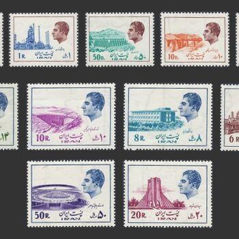 تمبر سری شانزدهم پستی 1353 - محمد رضا شاه