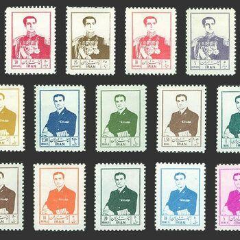 تمبر سری ششم پستی 1335 - محمد رضا شاه