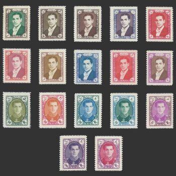 تمبر سری هشتم پستی 1336 - محمد رضا شاه