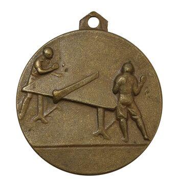 مدال آویز ورزشی برنز پینگ پنگ - VF - محمد رضا شاه