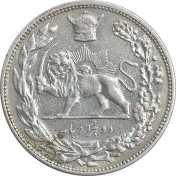 سکه 2000 دینار 1306H تصویری - EF45 - رضا شاه