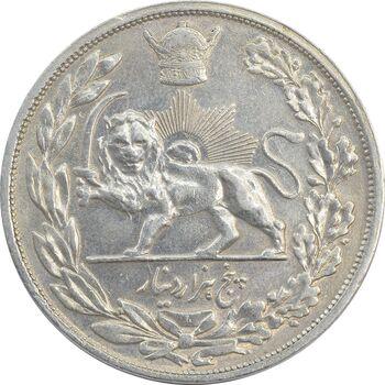 سکه 5000 دینار 1306L تصویری - MS61 - رضا شاه