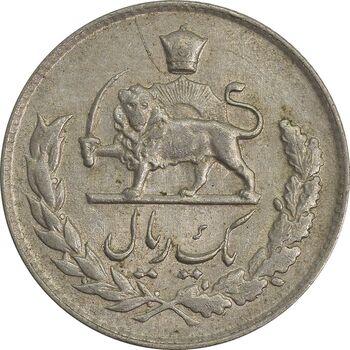 سکه 1 ریال 1335 - EF45 - محمد رضا شاه