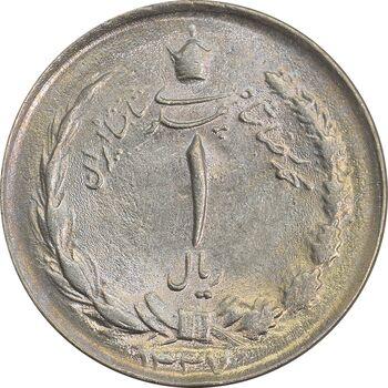 سکه 1 ریال 1337 - MS63 - محمد رضا شاه
