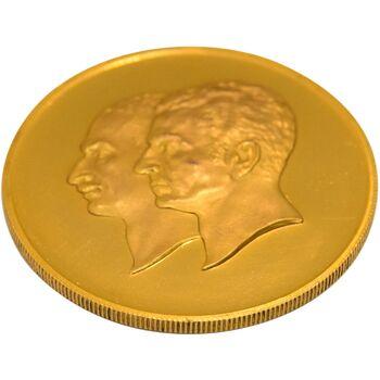 مدال برنز سایز 40 گرمی بانک ملی (نمونه) - PF62 - محمد رضا شاه