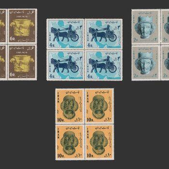 تمبر هفت هزار سال هنر ایران 1343 - محمدرضا شاه
