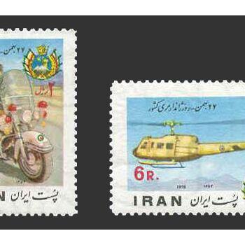 تمبر روز ژاندارمری 1354 - محمدرضا شاه