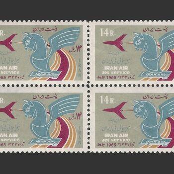 تمبر هواپیمایی ملی ایران 1344 - محمدرضا شاه