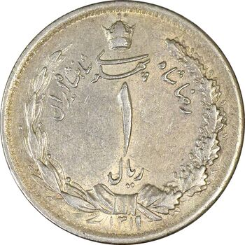 سکه 1 ریال 1311 - AU58 - رضا شاه
