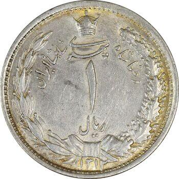 سکه 1 ریال 1312 - AU58 - رضا شاه