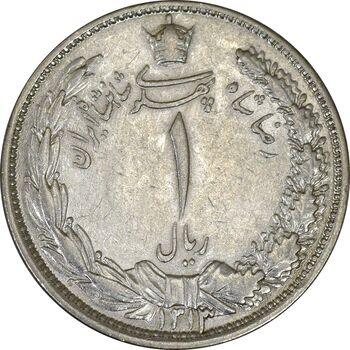 سکه 1 ریال 1313 (سورشارژ تاریخ نوع یک) - MS61 - رضا شاه