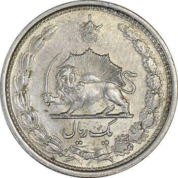 سکه 1 ریال 1313 (سورشارژ تاریخ نوع دوم) - AU58 - رضا شاه