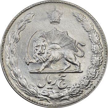 سکه 5 ریال 2537 آریامهر - MS61 - محمد رضا شاه