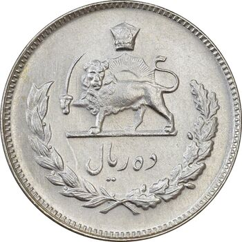 سکه 10 ریال 1345 - MS61 - محمد رضا شاه