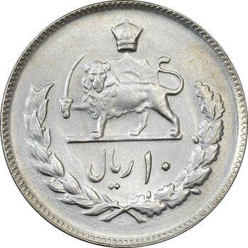 سکه 10 ریال 2536 - MS63 - محمد رضا شاه