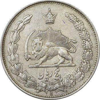 سکه 5 ریال 1310 (مکرر پشت سکه) - EF40 - رضا شاه