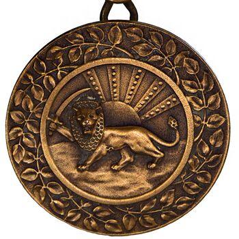 مدال برنز بپاداش خدمت (با جعبه و روبان فابریک) - UNC - رضا شاه