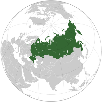 Russia Globe Map