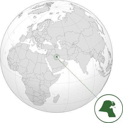 نقشه کشور کویت